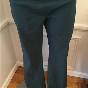 FOREST GREEN PULL UP STRETCHY PANTS